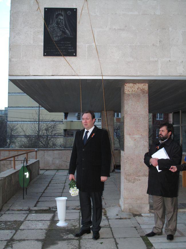 Dezvelirea placii comemorative in memoria judecatorului Anatol Popovici, cazut pe campul de lupta in 1992 in razboiul de pe Nistru