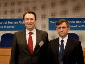 Judecătorul CEDO din partea Republicii Moldova, Mihai Poalelungi (Strasbourg, 15 martie 2010)