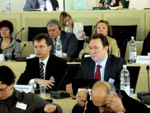 La Consiliul Europei cu Ministrul Finanţelor, Veaceslav Negruţă (Strasbourg, 15 martie 2010)