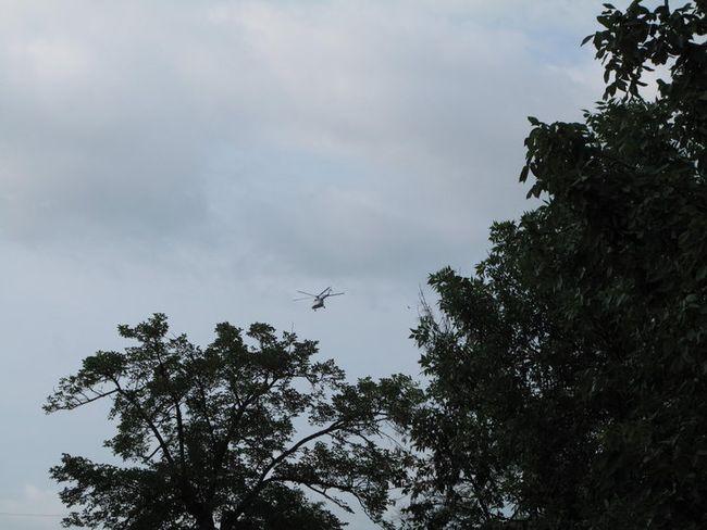 Sosirea Comandantului Suprem cu elicopterul, r. Hânceşti